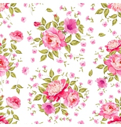 Luxurious color peony pattern vector image