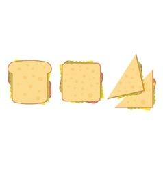 Set of three delicious sandwich vector image vector image