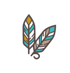 traditional indian feathers vector image vector image