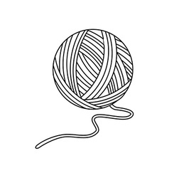 Yarn ball vector image