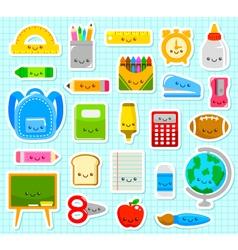 cute school items vector image vector image