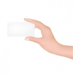 hand with blank vector image vector image