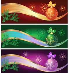 set of new year backgrounds vector image