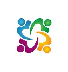 Teamwork people business group logo vector