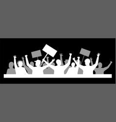A protest or demonstration demand from crowd vector