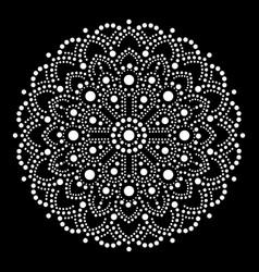 aboriginal dot painting mandala australian ethnic vector image