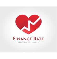Abstract love rate logo template for vector