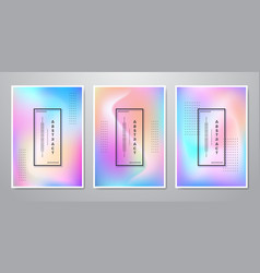 abstract trendy holographic gradient shapes vector image