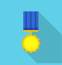 Achievement medal icon flat style vector