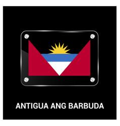 antigua ang barbuda flag design vector image