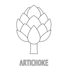 artichoke icon outline style vector image vector image