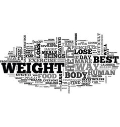 Best ways to lose weight text word cloud concept vector