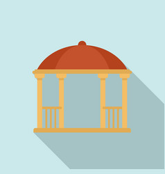 Bower gazebo icon flat style vector