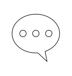 bubble speech message communication line vector image