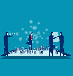 business innovation planning and analysis concept vector image