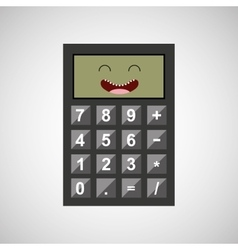 calculator character design vector image