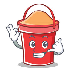 Call me bucket character cartoon style vector