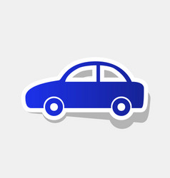 car sign new year bluish vector image