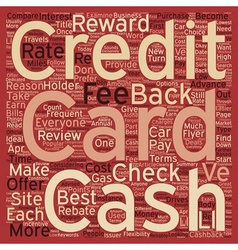 Cash back Credit Cards Where is the Money text vector