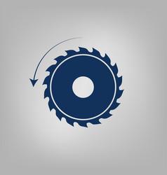 Circular saw sawmill icon vector