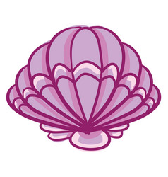 Clipart a beautiful pink-colored shell or color vector