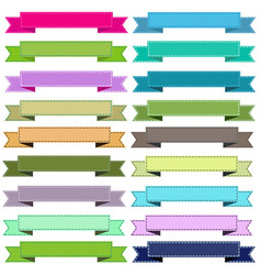 colorful cute ribbons on white background vector image