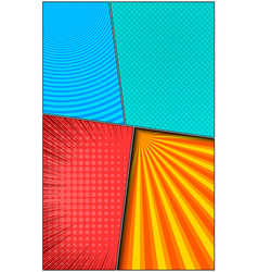 Comic bright vertical composition vector