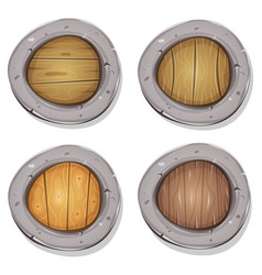 Comic rounded viking shields vector