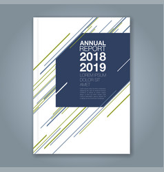 cover annual report 896 vector image