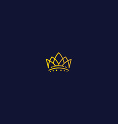 crown icon logo vector image