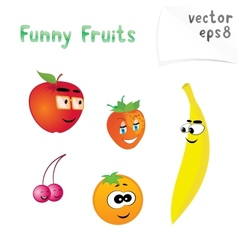 Cute Fruits vector image