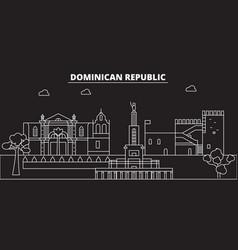 Dominican republic silhouette skyline dominican vector