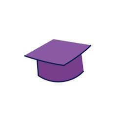 doodle graduation cap vector image