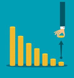 Economic activity decline concept in flat style vector