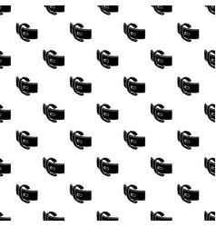 elegant belt buckle pattern seamless vector image