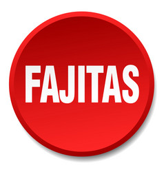 Fajitas red round flat isolated push button vector