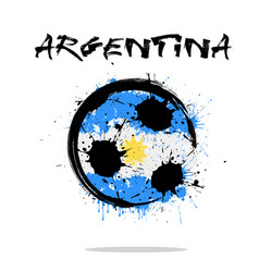 Flag of argentina as an abstract soccer ball vector