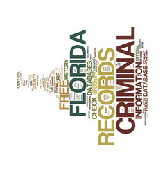 Free florida criminal records text background vector