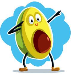 Funny dabbing avocado cartoon vector