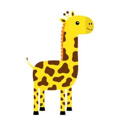 giraffe icon kawaii animal cute cartoon funny vector image