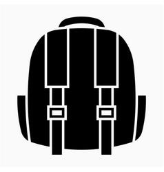 Glyph beautiful baggage icon vector