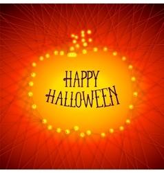 Halloween pumpkins from strained threads vector