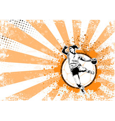 handball poster vector image