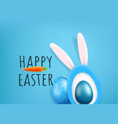 happy easter greeting card cute cutout style vector image
