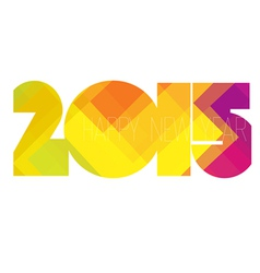 Happy new year 2015 colorful vector