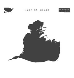 Lake st clair map isolated on white background vector