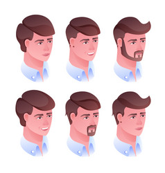 man head hairstyle vector image