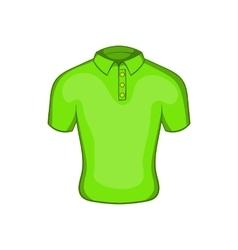 Mens green polo icon cartoon style vector image