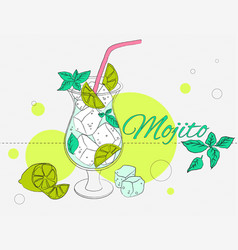 mojito cocktail vector image