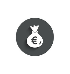 money bag simple icon cash banking currency vector image